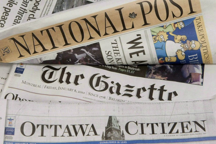 Le National Post, le Ottawa Citizen, leVancouver Province... (PHOTO LA PRESSE CANADIENNE)