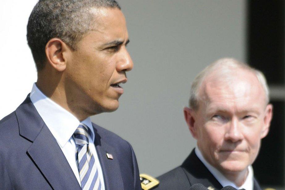 Le président Obama et le général Martin Dempsey.... (PHOTO ARCHIVES REUTERS)