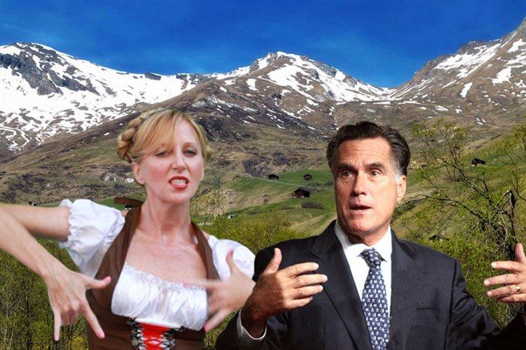 «Romney Girl» et Mitt Romney....