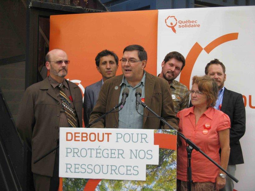 Les cinq candidats régionaux de Québec solidaire... (Archives le Quotidien)