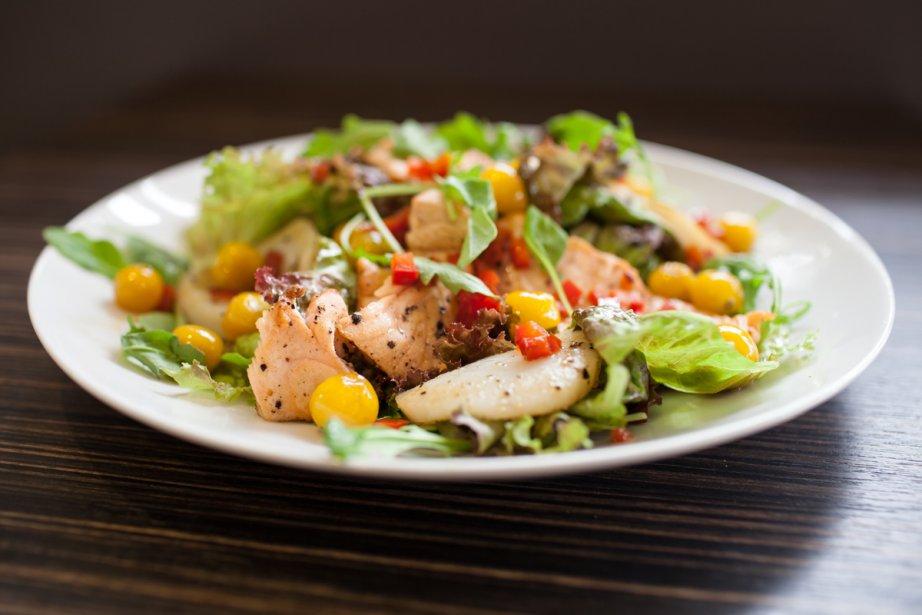 Salade tiède mer et cerise de terre... (Photo: Édouard Plante-Fréchette, La Presse)