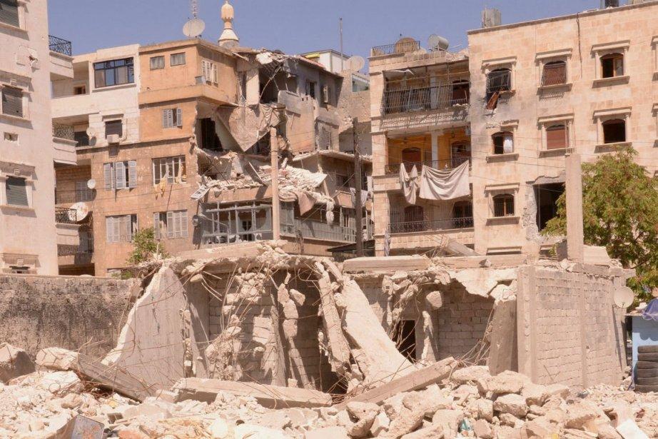 La télévision officielle syrienne Ikhabariya a indiqué que... (Photo George Ourfalian, Reuters)