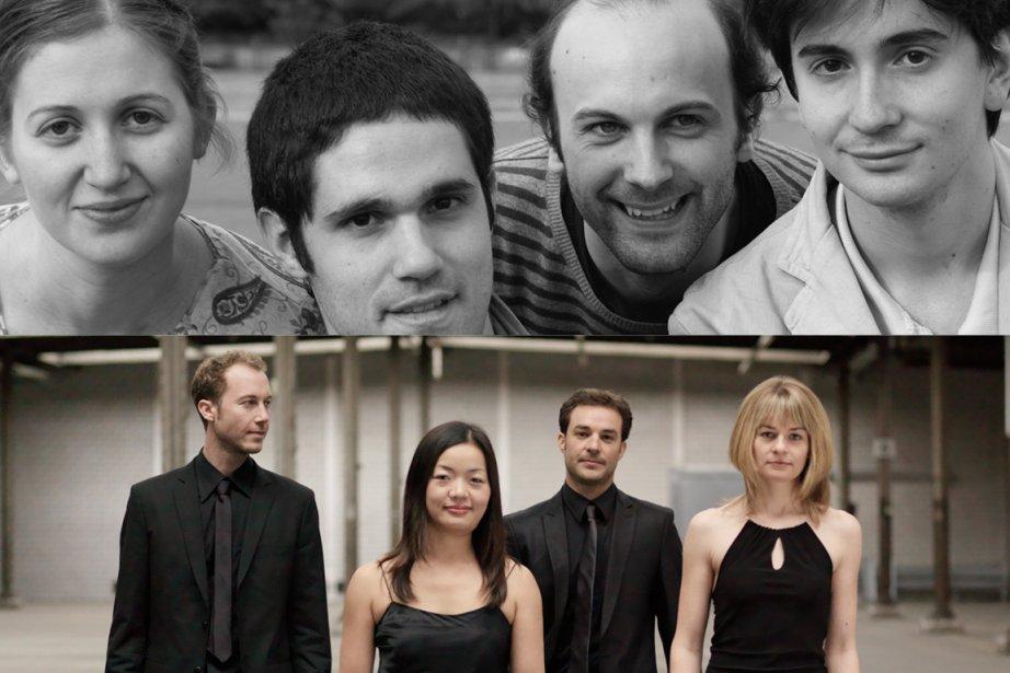 Le Quatuor Noga, de France, et le Quatuor... (PHOTOS FOURNIES PAR L'ACADÉMIE)
