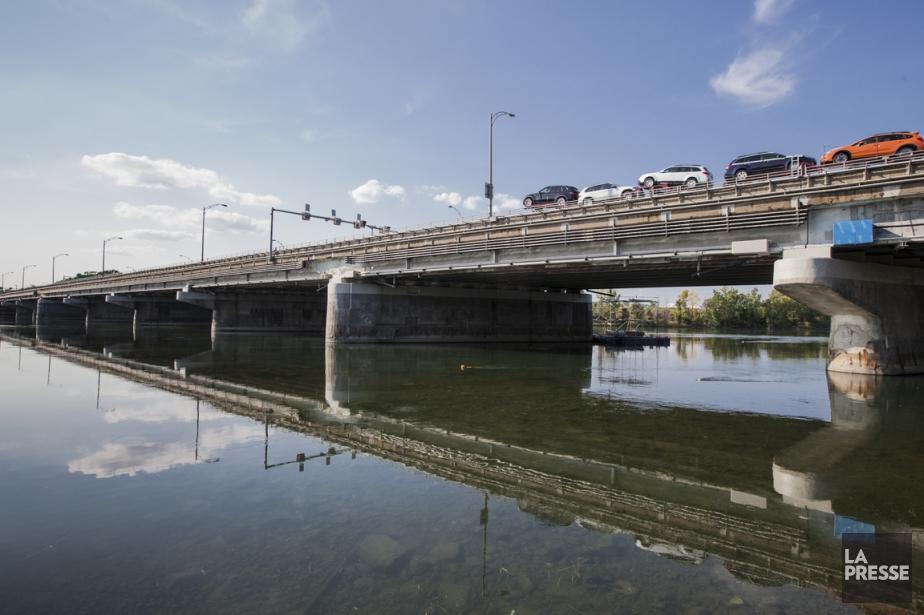 Le pont de l'Île-des-Soeurs a été achevé en... (PHOTO EDOUARD PLANTE-FRÉCHETTE, ARCHIVES LA PRESSE)