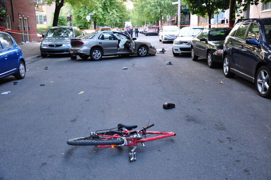 La collision est survenue à l'angle des rues... (Photo: Sylvain Ryan, collaboration spéciale)