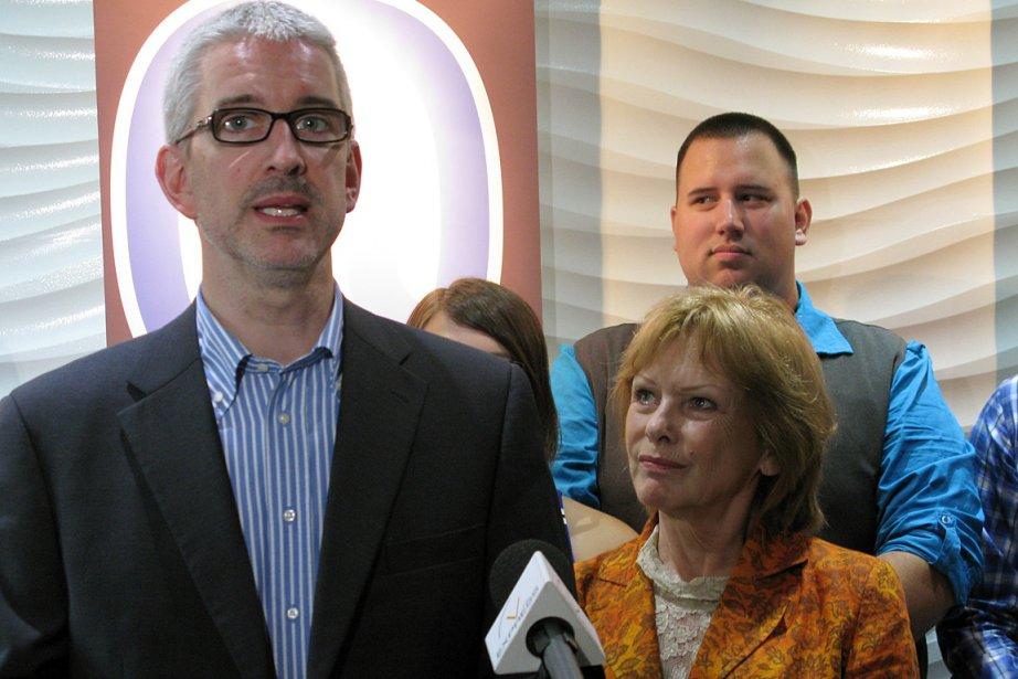 Jean-Martin Aussant, chef d'Option nationale, et Lisette Lapointe,... (Photo: archives PC)