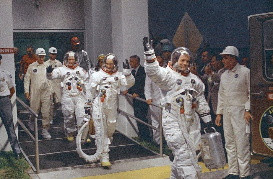 En route pour la mission lunaire, le 16 juillet 1969. (PHOTO ARCHIVES AP)