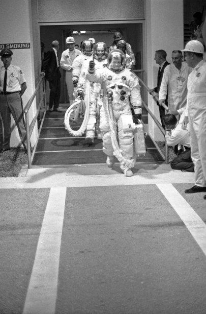 En route pour la mission, le 16 juillet 1969. (PHOTO ARCHIVES AP)