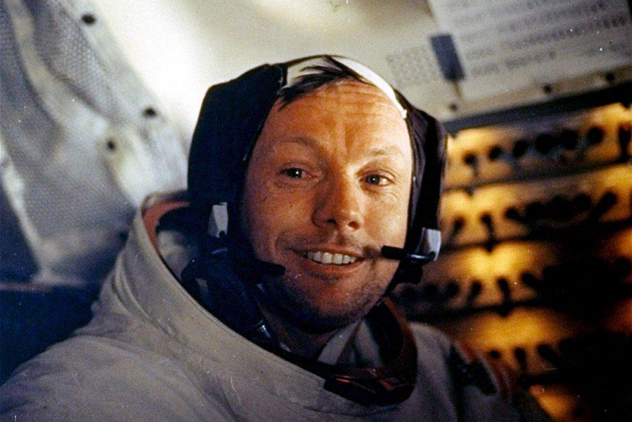Neil Armstrong, photographié le 20 juillet 1969 durant... (Photo: archives NASA)