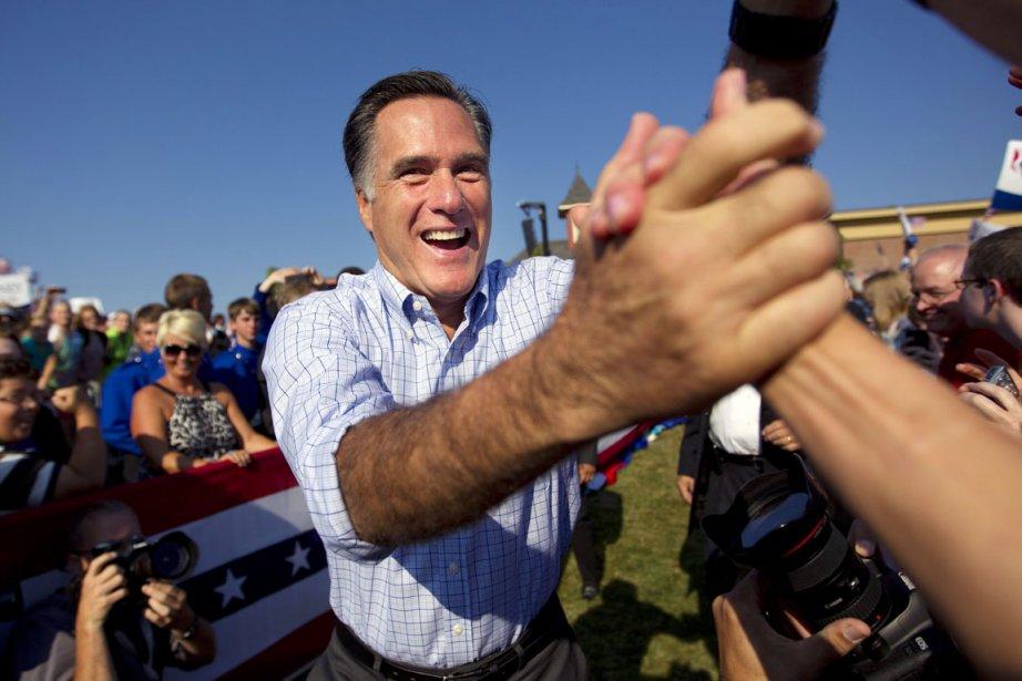 Mitt Romney à Powell, en Ohio, le 25... (PHOTO EVAN VUCCI, AP)