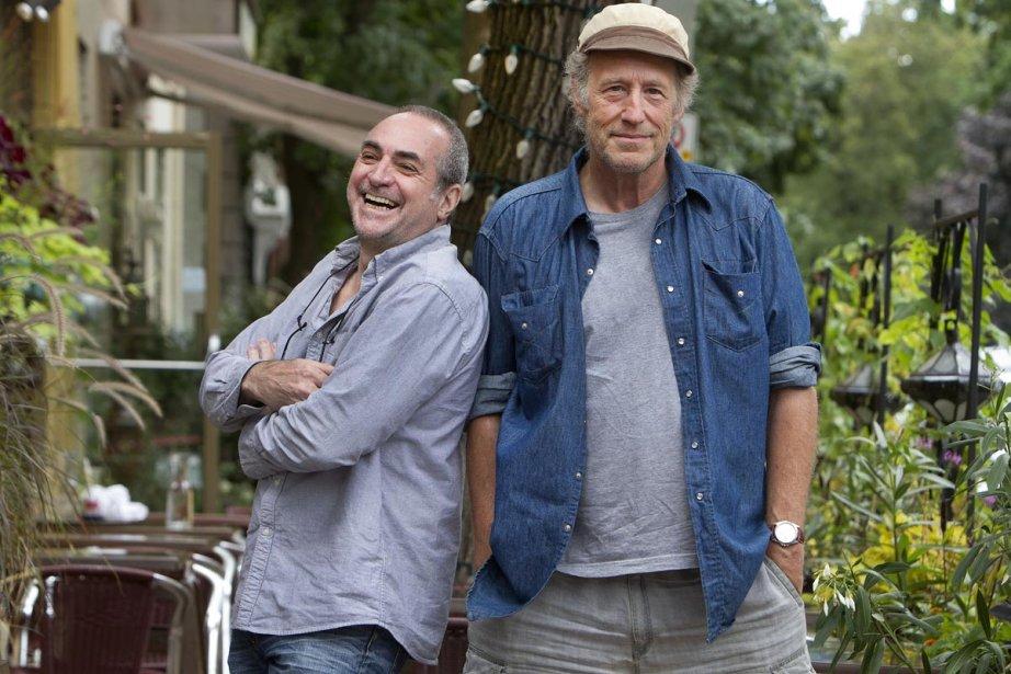 Le réalisateur Claude Gagnon aux côtés de Gabriel... (Photo: Robert Skinner, La Presse)