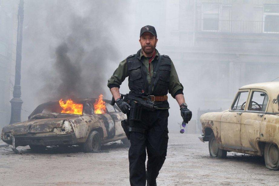 Chuck Norris dans The Expendables 2.... (Photo: fournie par Alliance Vivafilm)