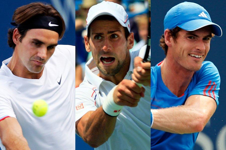 Roger  Federer, Novak Djokovic et Andy Murray.... (Photos: AP et Reuters)