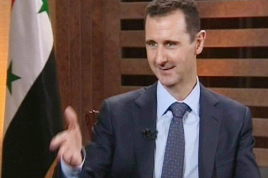 Le président syrien Bachar al-Assad.... (IMAGE ADDOUNIA TV/AFP)