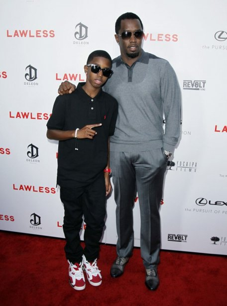 Sean «Diddy» Combs et son fils Christian Combs | 29 août 2012