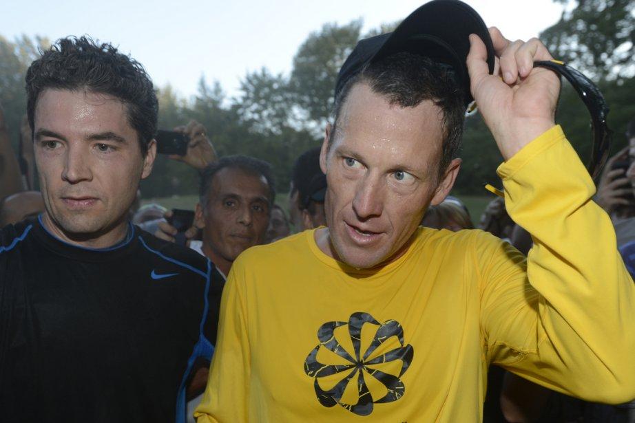 Lance Armstrong (à droite), ici lors d'une course... (Photo: Bernard Brault, La Presse)