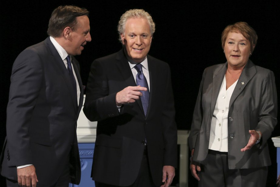 François Legault, Jean Charest et Pauline Marois lors... (PHOTO CHRISTINNE MUSCHI, REUTERS)