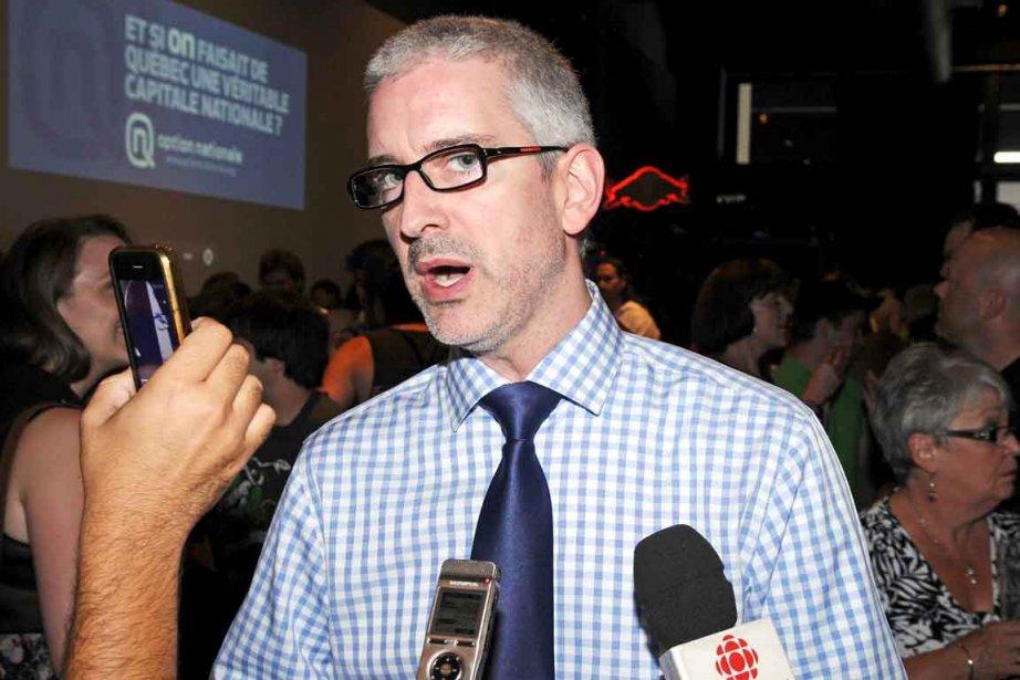 Jean-Martin Aussant, chef d'Option nationale, dit avoir un... (Photothèque Le Soleil , Andréanne Lemire)