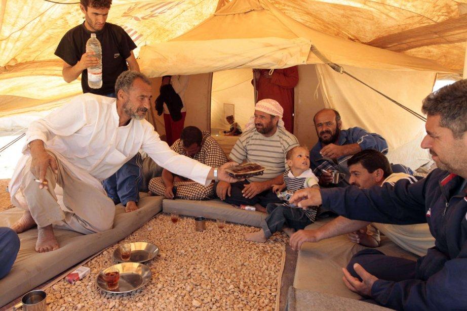 Des réfugiés syriens dans le camp de Zaatari,... (Photo : Khalil Mazraawi)