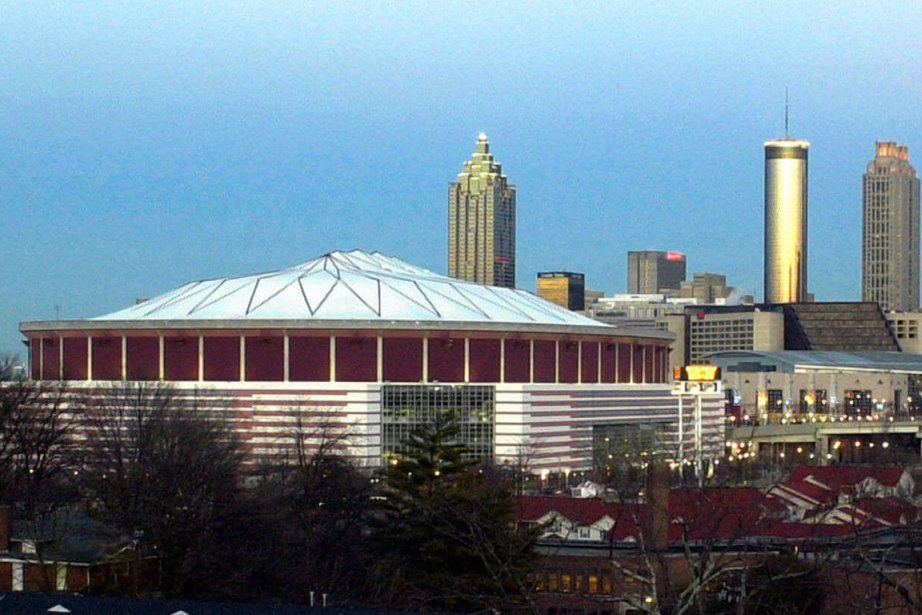 Le Georgia Dome d'Atlanta a été vendredi le... (Photo : archives AP)