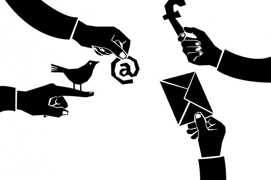 L'avènement des réseaux sociaux... (Illustration: Kevin Massé, La Presse)