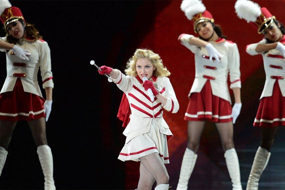 Madonna sur les plaines d'Abraham, le 1er septembre... (Photo: Steve Deschênes, Le Soleil)
