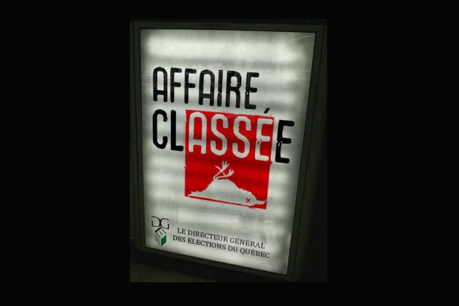 L'affiche faussement «signée» par le DGEQ est rapidement... (PHOTO TIRÉE DE TWITTER)