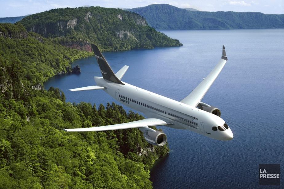 Un avion de typeC-Series.... (Photo fournie par Bombardier)