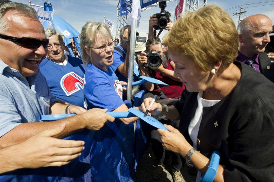 Pauline Marois a mené une campagne plutôt terne... (Photo: La Presse Canadienne)