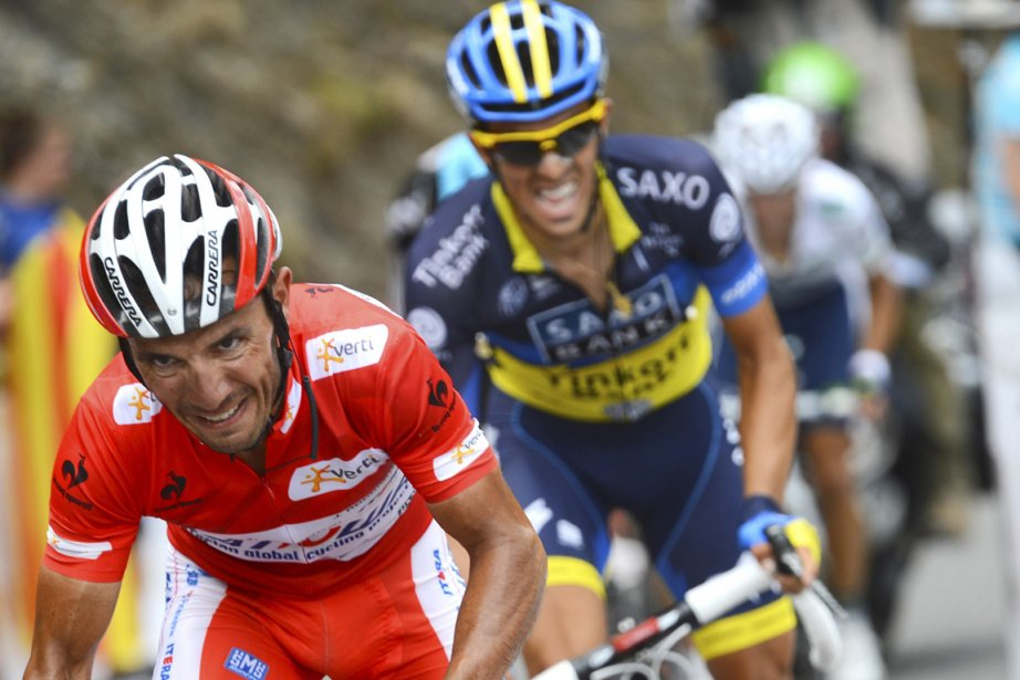L'Espagnol Joaquin Rodriguez (à gauche) détient 28 secondes... (Photo: Reuters)