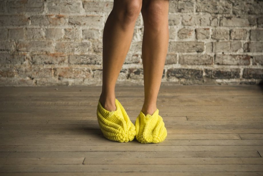 Les pantoufles en Phentex reviennent à la mode!... (Photo: Ninon Pednault, La Presse)