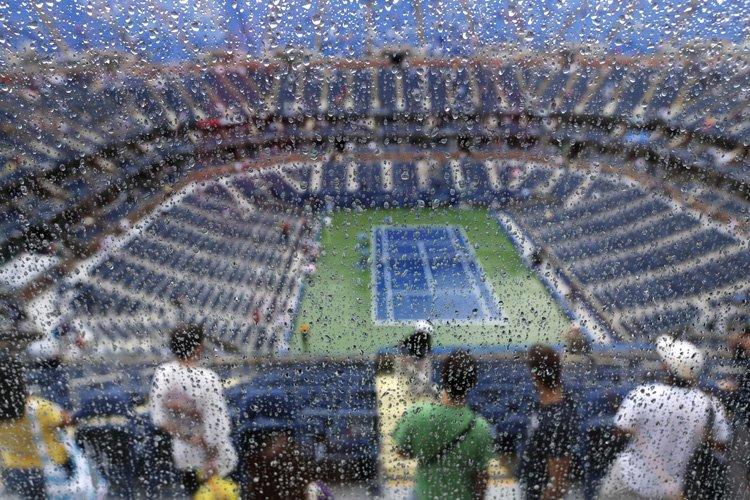 Quatre des six matches au programme mardi à l'US Open ont dû être... (Photo: AP)