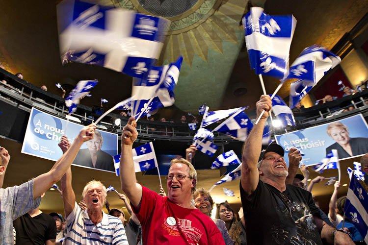 Les péquistes étaient déchirés entre la joie de... (Photo: Patrick Sanfaçon, La Presse)