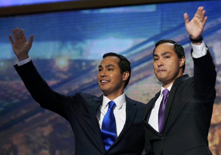 Les jumeaux Castro, le maire de San Antonio et orateur vedette très attendue à la convention démocrate Julian (à gauche) et le candidat à la Chambre des représentants Joaquin. | 5 septembre 2012