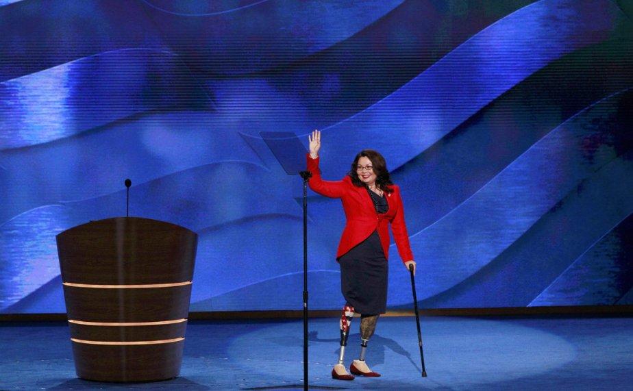 Candidate démocrate aux élections législatives de 2012 dans le huitième district de l'Illinois, la Lieutenant colonel Tammy Duckworth a perdu ses deux jambes lors d'un accident d'hélicoptère en Irak. | 5 septembre 2012
