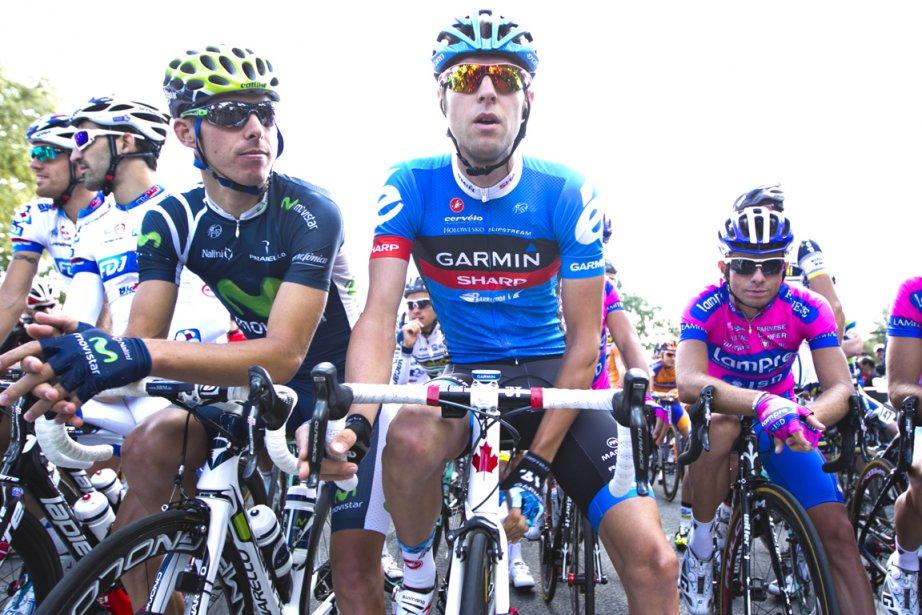 Ryder Hesjedal (au centre) a montré qu'il était... (Photo: Hugo-Sébastien Aubert, La Presse)