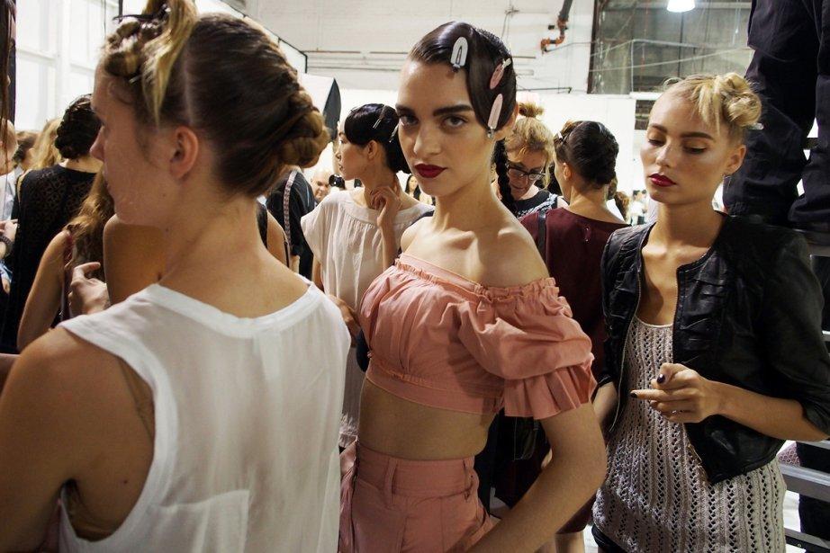 La semaine de la mode de New York... (Photo AFP)