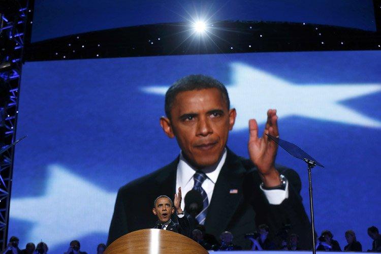 Barack obama a livré son discours d'investiture lors... (Photo: Reuters)