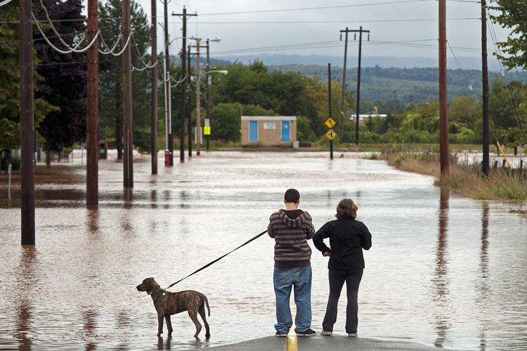 Le niveau de l'eau a commencé à grimper... (Photo: PC)