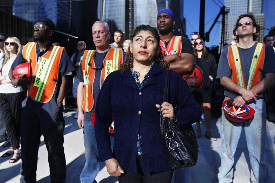 New York s'est arrêté pendant une minute à... (PHOTO SHANON STAPLETON, REUTERS)