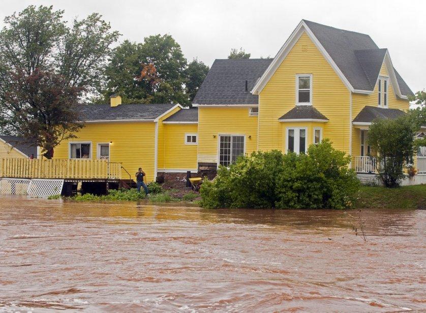 La Salmon River est très haute à Truro en Nouvelle-Écosse. | 11 septembre 2012