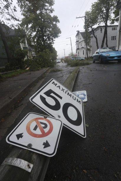 Dégâts à Saint-Jean Terre-Neuve. | 11 septembre 2012