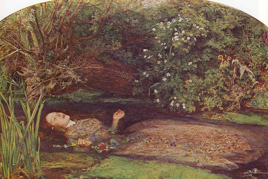 Le tableau Ophélie, de John Everett Millais... (Photo tirée de l'internet)