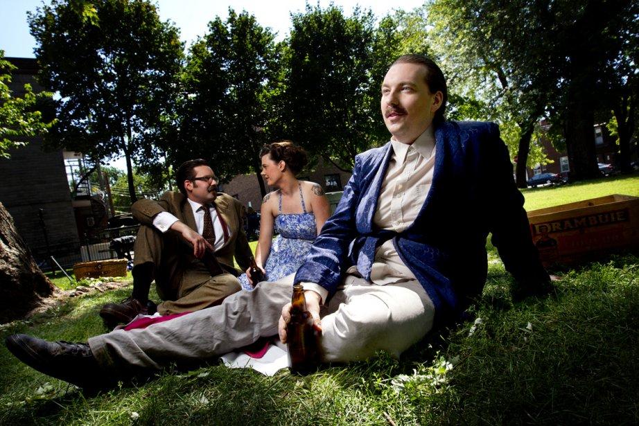 Colin Perry, Nicole Violet Turcotte et Beaver Sheppard,... (Photo: Marco Campanozzi, La Presse)