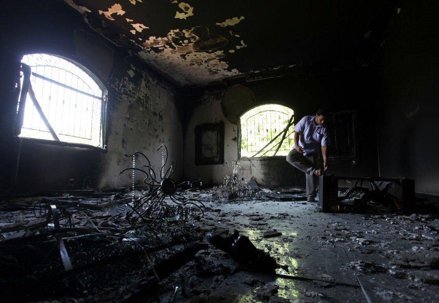 L'intérieur du consulat américain de Benghazi, qui a... (PHOTO AP)