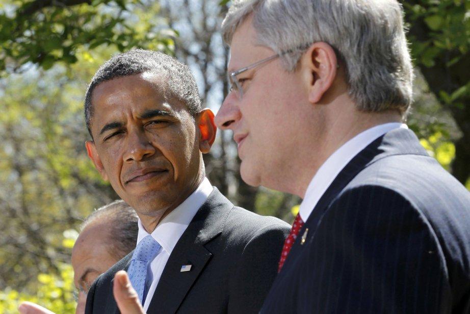 Barack Obama et Stephen Harper.... (Photo archives Reuters)