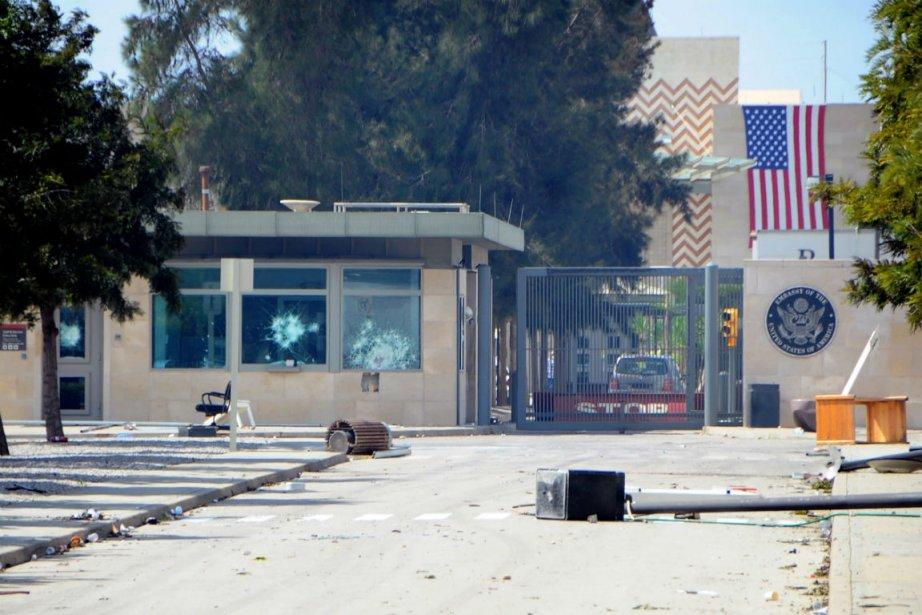 L'ambassade des États-Unis en Tunisie a fait l'objet... (Photo Hassene Dridi, Associated Press)