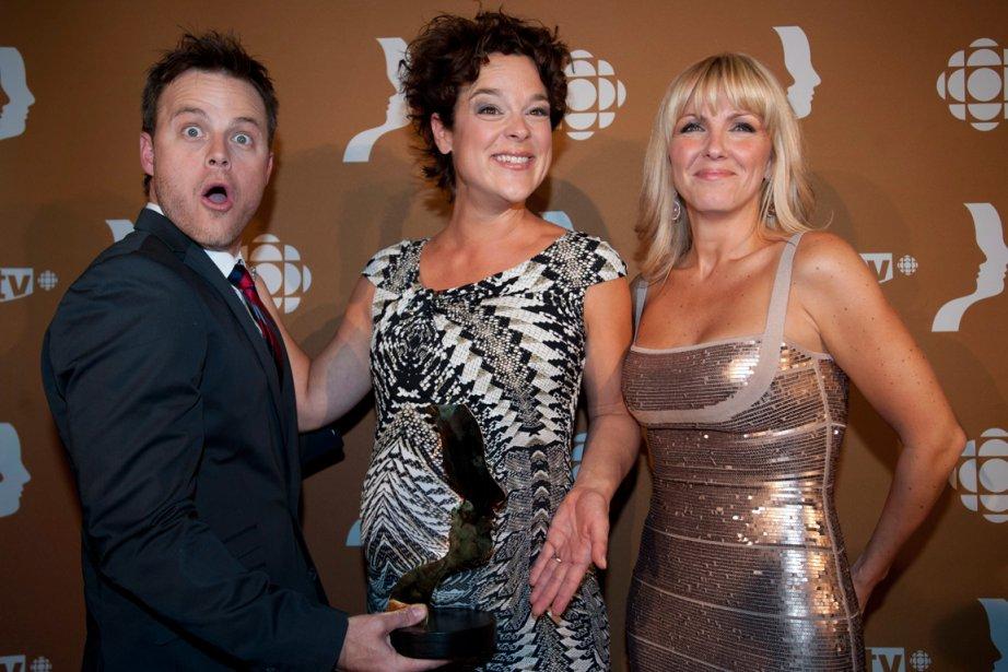 Louis Morissette, Hélène Bourgeois Leclerc et Véronique Cloutier.... (PHOTO GRAHAM HUGHES, LA PRESSE CANADIENNE)
