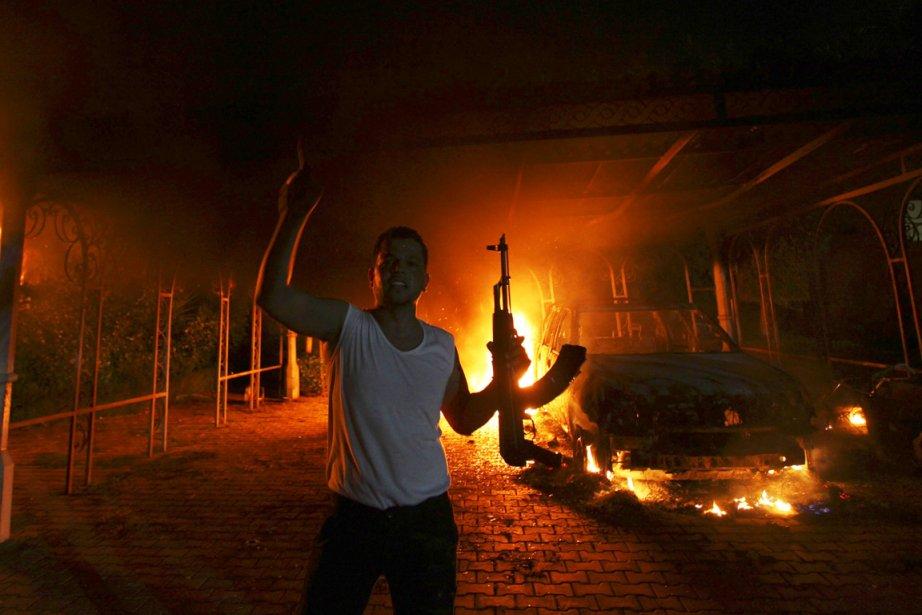 Quatre Américains, dont l'ambassadeur en Libye, ont péri... (PHOTO ESAM Al-FETORI, REUTERS)