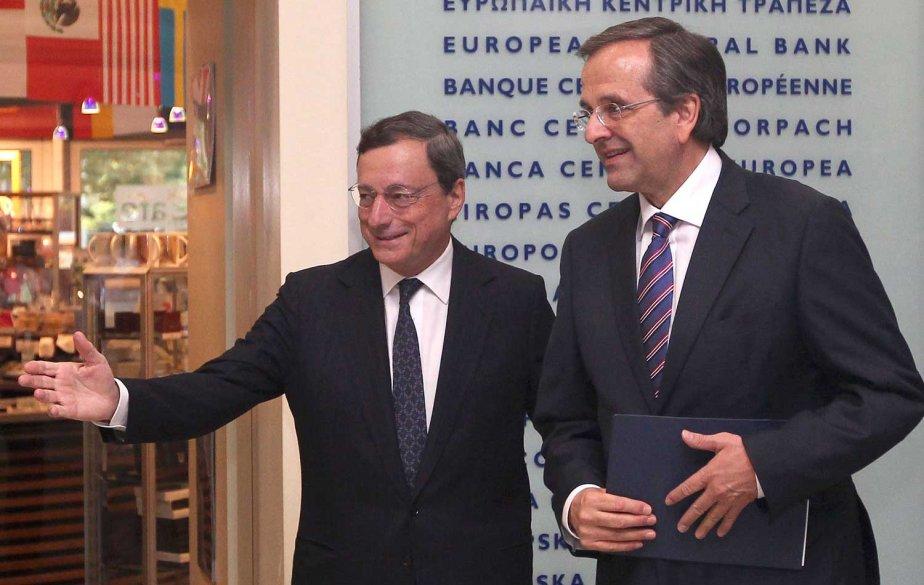 Le président de la Banque centrale européenne, Mario... (PHOTO DANIEL ROLAND, AFP)